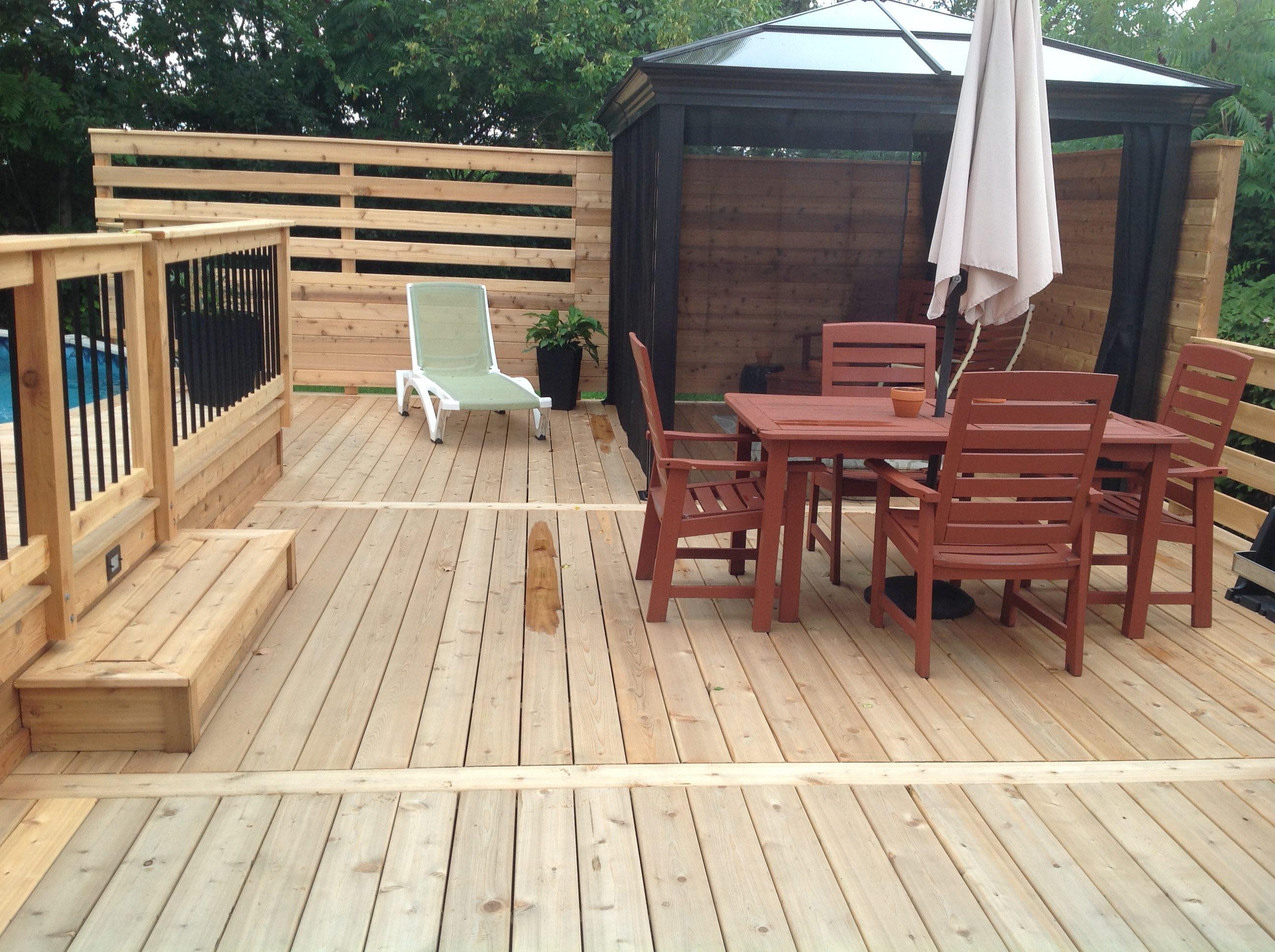 cedre rouge de l ouest patio tendance. Black Bedroom Furniture Sets. Home Design Ideas